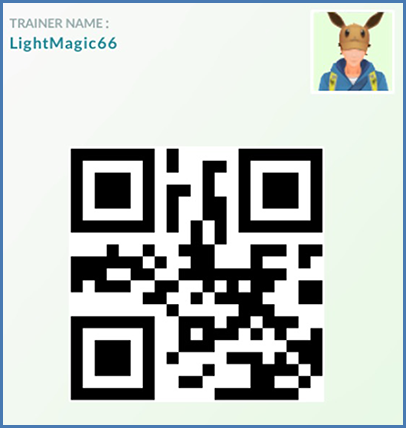 Pokémon GO Trainer QR Code