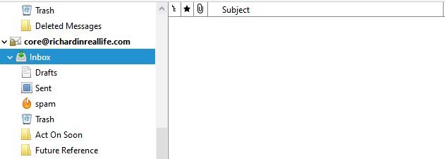 Empty email inbox